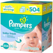 Pampers Baby Fresh Hypoallergenic Baby Wipes, 504 sheets