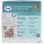 Sealy Total Stain Protection Crib Mattress Pad Waterproof Barrier
