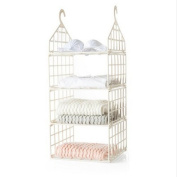Hanging Closet Organiser with Plastic Shelves Hanging Shelves