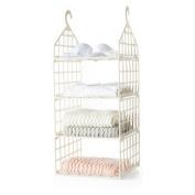 Hanging Closet Organiser with Plastic Shelves Hanging Shelves