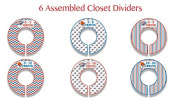 OKC Thunder Themed Plastic Closet Dividers - Infant Closet Dividers