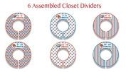 OKC Thunder Themed Plastic Closet Dividers - Infant Closet Dividers