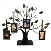 DecentHome 4-Opening Decorative Iron Tree Table Top Collage Photo Frame
