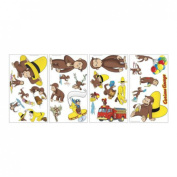 CURIOUS GEORGE wall stickers 24 decals Monkey Balloons Fire Truck scrapbook