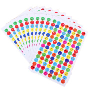 uhoMEy 10Pcs/Pack Reward Children Smiley Faces Stickers Teacher Praise