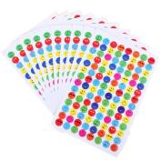 uhoMEy 10Pcs/Pack Reward Children Smiley Faces Stickers Teacher Praise