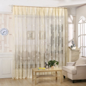 Oshide Voile Tulle Room Window Curtain Sheer Voile Panel Drapes Curtain