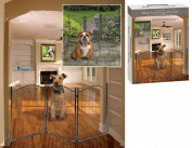 Indoor/Outdoor Metal Arch Design 3 Section Pet Gate