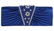 Outclub Women's Ruffled Event Clutch Blue One Size