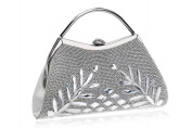 GINSIO Women's Rhinestone Modern New Fashion Simple Shoulder-handbags Evening-handbags