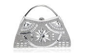 GINSIO Women's Rhinestone Pearl Modern New Fashion Simple Shoulder-handbags Evening-handbags