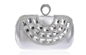 GINSIO Women's Rhinestone Modern New Fashion Wristlet-handbags Shoulder-handbags Evening-handbags