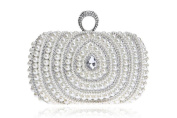 GINSIO Women's Pearl Rhinestonen New Fashion Wristlet-handbags Evening-handbags