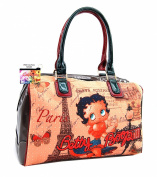 Betty Boop Large Satchel Handbag, Betty Boop in Paris, BQ9904