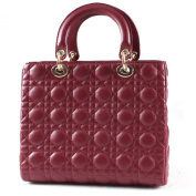 Chicside Women's Excellent Genuine Leather TopHandle Bags Fuschia One Size