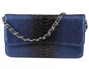 Fashiondiary Women's Snake a Trifle Purse Evening Bag Blue One Size