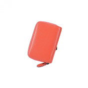 DaoJian Leather Zipper Credit Card Holder Case