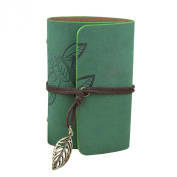 Gilroy Retro Faux Leather Leaf Charm Tie Up Credit Card Holder Wallets