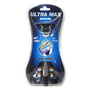 Ultra Max Razor + 3 Cartridge Blue , Case of 48