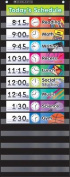 Daily Schedule (Black) Pocket Chart