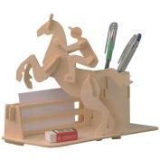 Sumperth 3D Wooden Brain Puzzle Toys DIY Assembled Pen Case Model Children Play Gift