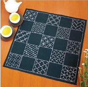 Olympus Sashiko Furoshiki Placemat Kit # 290 - 13 Traditional Japanese Designs - Complete with Thread, Needle & Thimble