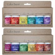 Ken Oliver Crafts Colour Burst - TWO 6 Pack Sets - Earth Tones & Brights