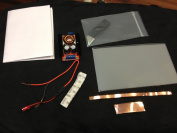 Smart Film Starter Kit 18cm X 10cm Electrochromic Film Switchable Glass Eglass Pdlc