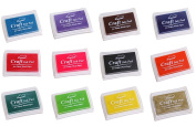 Craft Ink Pad Stamps Partner DIY Assorted Colour Set of 12