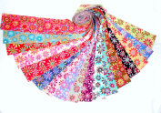 17 6.4cm Retro Flower Power Jelly Roll WOF