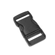 1cm Flat Straight Side Release Buckles for Paracord Bracelet Black 100pcs
