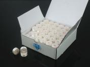 Prewound Bobbin Thread for Embroidery Machines L Type Paper Side White Colour 144pcs/set