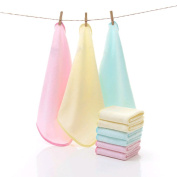 100% Natural Bamboo Towels, Bamboo Baby Washcloths (6-pack) - Premium Extra Soft & Absorbent Towels For Baby's Sensitive Skin - Perfect 25cm x 25cm Reusable Wipes