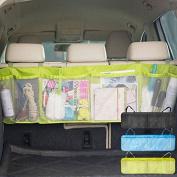Car Back Seat Organiser Auto Travel Multi-Pocket Holder Pouch Storage Bag Black