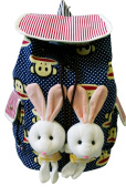 Kid Backpack with Two Cute Bunnies