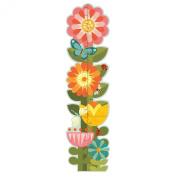 Petit Collage Folding Growth Chart, Garden Flowers