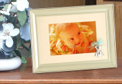 Silver Frame with Bear and Bow - Blue