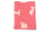 DARZZI Bunny Baby Blanket, Salmon/Pink