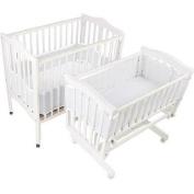 24cm High Easy-Wrap Design Covers Portable & Cradle Cribs, White