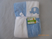 Je - Plush Baby Blankey with Embroidered Elephant