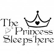 DDLBiz The Princess Wall Stickers Sleeps Here Home Decoration