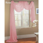 Elegance Sheer Valance Scarf Window Treatment Covering