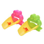 Velishy(TM) Cute Frog Bathroom Sink Faucet Chute Extender For Children Washing Hands