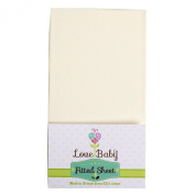 Love Baby Co 100% Cotton Fitted Cot Sheet made especially to fit the Chicco Next to Me, Cream