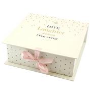 LOVE LAUGHTER KEEPSAKE GIFT BOX MEMORIES WEDDING BIRTHDAY PHOTOS STORAGE NEW