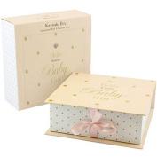 BABY GIRL KEEPSAKE BOX SHOWER MEMORY GIFT DRAWER BOOK NEW STORAGE CHRISTENING