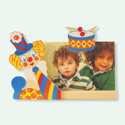 Dida - Photoframes Clown Drum - Photo by wooden table with Clown - frame for horizontal photo