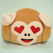 Jessie & Leetty 32cm Emoji cushion || Emoji monkey pillow || Emoticon Yellow Round Cushion Pillow || Stuffed Plush Soft Toy-Independent Vacuum Packing