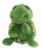 PeiGee 20CM Cartoon Plush Tortoise Lovely Green Big Eyes Turtle Soft Stuffed Animal Toy Great Birthday Gift for Kids