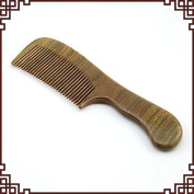 Calcifer® High Quality Exquisite Ebony Green Wood Comb Massage Health Care Carving Comb Crafts#1007